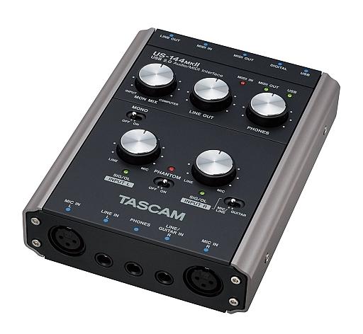 【中古】デジタル楽器 TASCAM USB2.0オーディオ/MIDIインターフェース [US-144MKII] (状態:中箱欠品)