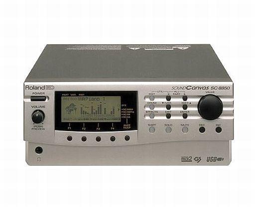 【中古】デジタル楽器 SOUND CANVAS MIDI音源モジュール [SC-8850] シルバー(状態:本体 + 電源コードのみ、本体状態難)