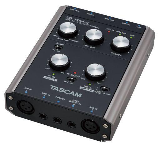 【中古】デジタル楽器 TASCAM USB2.0オーディオ/MIDIインターフェース [US-144MKII] (状態:日本語版 CUBASE LE5 クイックスタートガイド欠品)