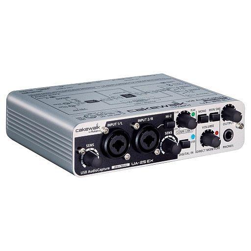 【中古】デジタル楽器 24-Bit/96kHz USBオーディオキャプチャー CAKEWALK [UA-25EXCW] (状態:USBケーブル欠品)