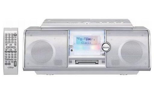 【中古】オーディオプレイヤー・コンポ CD-MDポータブルシステム Clavia (シルバー) [RC-L1MD-S] (状態:説明書・AMアンテナ欠品/本体・リモコン状態難)