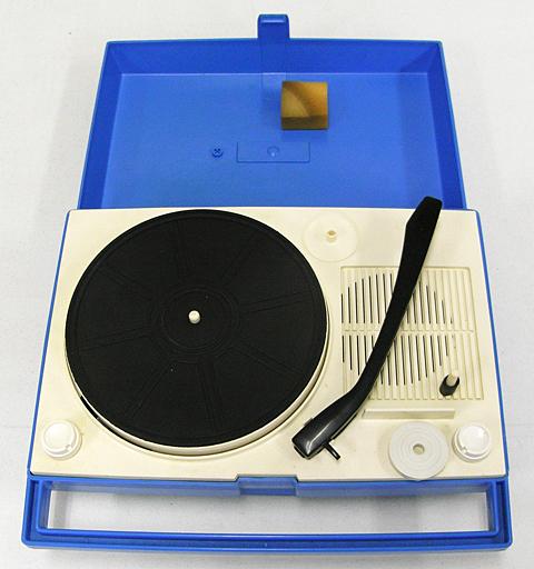 【中古】オーディオプレイヤー・コンポ ポータブルレコードプレーヤー (ブルー) [TP-30S] (状態:本体のみ)