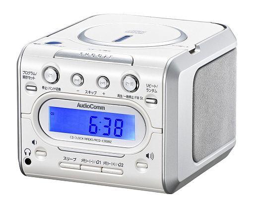 【中古】オーディオプレイヤー・コンポ オーム電機 AudioComm CDクロックラジオ [RCS-X008Z]