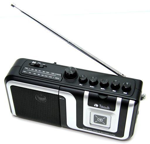 【中古】オーディオプレイヤー・コンポ eiYAAA Touch AM/FMラジオ カセットレコーダープレーヤー (ブラック) [TC-RGKS1BK]