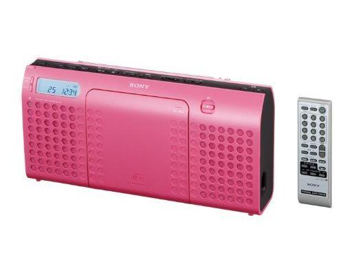 【中古】オーディオプレイヤー・コンポ スリムスタイル CDラジオ (ピンク) [ZS-E70(P)]