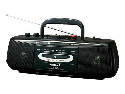 【中古】オーディオプレイヤー・コンポ パナソニック ステレオラジオカセットレコーダー (ブラック)[RX-FS22A-K]