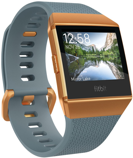 fitbit smart watch ionic (Slate Blue / Burnt Orange) [FB503CPBU-CJK] (condition: body condition difficult)