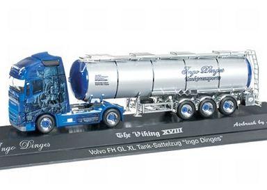 """【中古】ミニカー 1/87 ボルボ FH GL XL タンク セミトレーラー """"Ingo Dinges"""" [121606]"""