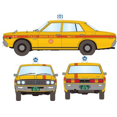 【中古】ミニカー 1/43 TLV-N43-10a 日産 セドリック タクシー 1973年式 日本交通(イエロー×レッド) 「トミカリミテッドヴィンテージNEO」 [275190]