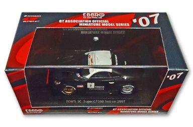 【中古】ミニカー 1/43 TOM'S SC SuperGT500 TEST CAR 2007 BRIDGESTONE #1(ブラック×ホワイト) 「オートバックス SUPER GT 2007シリーズ」 [43956]