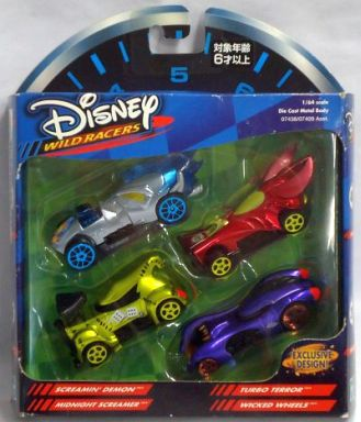 【中古】ミニカー 1/64 ヴィランズシリーズ(4台セット) 「ディズニー」 ディズニーワイルドレーサー ギフトパック [07438]