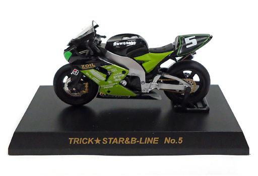 【中古】ミニカー 1/32 KAWASAKI ZX-10R TRICK★STAR&B-LINE No.5 「2005鈴鹿8時間耐久ロードレースマシンシリーズ」
