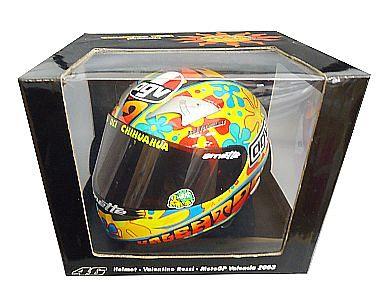 【中古】ミニカー 1/2 AGV ヘルメット バレンティーノ・ロッシ モトGP バレンシア 2003 [327030086]