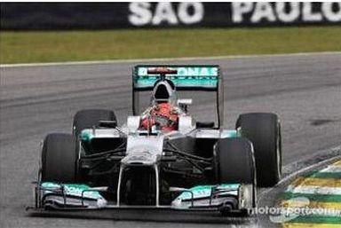 【中古】ミニカー 1/43 メルセデス W03 2012年ブラジルGP2012 No.7 ミハエル・シューマッハのラストレース M.Schumacher [S1009]