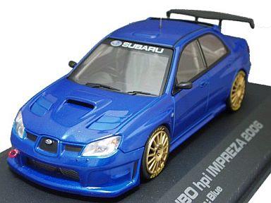 【中古】ミニカー 1/43 FUJITSUBO hpi インプレッサ 2006 プレーンカラー ブルー [949]