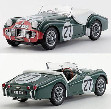 【中古】ミニカー 1/18 トライアンフ TR3S 1959 LM (No.27) グリーン/レッド [K08033C]