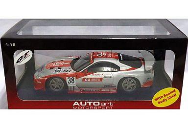 【中古】ミニカー 1/18 トヨタ 2003 JGTC au セルモ スープラ #38(シルバー×レッド) [80317]