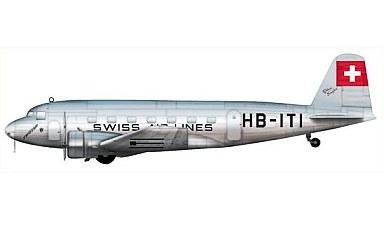 """1/200 ダグラスDC-2 """"スイス航空..."""