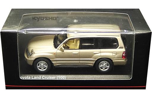 【中古】ミニカー 1/43 トヨタ ランドクルーザー 100(ゴールドマイカ) [KS03640GL]