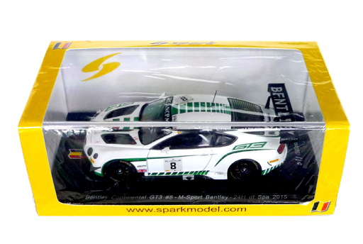 【新品】ミニカー 1/43 Bentley Continental GT3 Bentley M-Sport M. Buhk - M. Soulet - A. Soucek #8 [SB108]