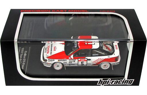 【中古】ミニカー 1/43 TOYOTA Celica GT-Four 1988 Tour de Corse #5 (レッド×ホワイト) [8083]