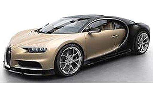 【予約】ミニカー 1/43 Bugatti Chiron(カーボンブラウン×シルク) [LS459G]