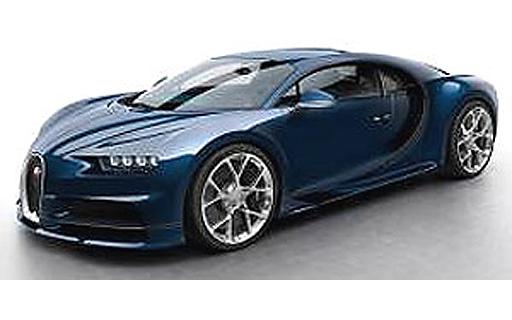 【予約】ミニカー 1/43 Bugatti Chiron(カーボンブルー) [LS459H]