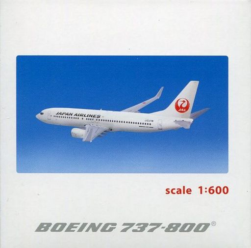 【中古】ミニカー 1/600 JAL B737-800 ダイキャストモデル [BJS1005]