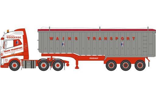 【新品】ミニカー 1/76 ボルボ FH4 G Tipper Wains Transport [OX76VOL4004]