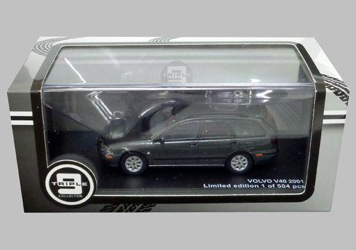 【中古】ミニカー 1/43 2001 ボルボ V40(ダークグレー) [T9-43064]