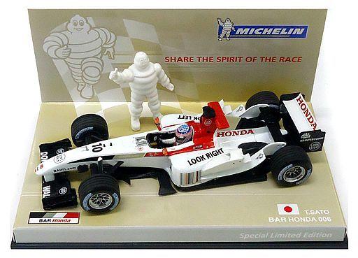 【中古】ミニカー 1/43 B・A・R HONDA 006 MAC TOOLS #10(ホワイト×レッド) 「Michelin Collection」 Special Limited Edition