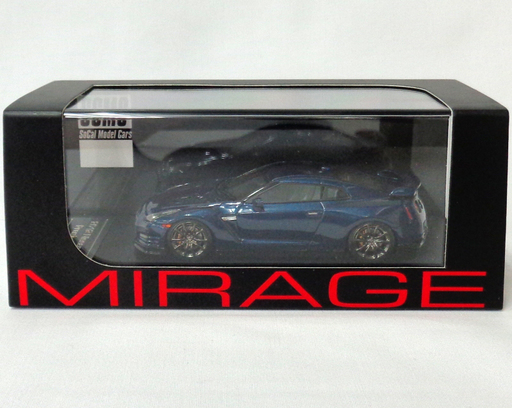 【中古】ミニカー 1/43 Nissan GT-R Premium R35(ディープブルーパール) 「MIRAGE ミラージュシリーズ」 [8348]