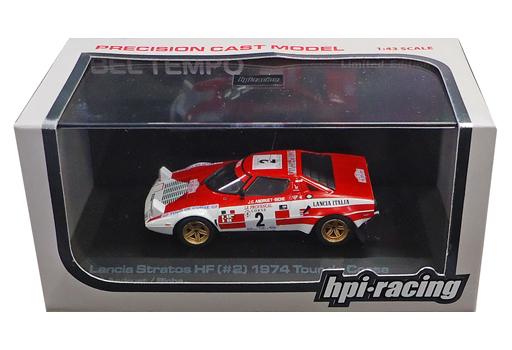 【中古】ミニカー 1/43 Lancia Stratos HF 1974 Tour de Corse #2(レッド×ホワイト) [8075]