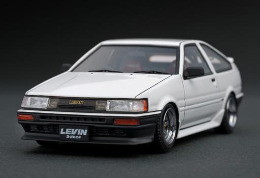 【中古】ミニカー 1/43 Toyota Corolla Levin AE86 3-Door GT Apex(ホワイト) [IG0472]