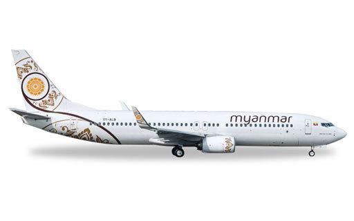 1/500 737-800 ミャンマーナショ...