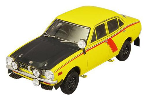 【新品】ミニカー 1/43 三菱 ランサー 1600 GSR テストカー 1974年仕様 サービスデカール付き(イエロー) [C43070]