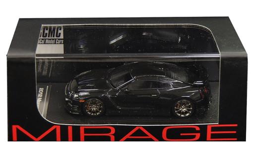 【中古】ミニカー 1/43 Nissan GT-R Premium R35(ジェットブラック) 「MIRAGE ミラージュシリーズ」 [8323]