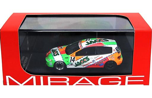 【中古】ミニカー 1/43 JACCS-CIVIC 1993 JTC HONDA #14(ホワイト×グリーン×レッド) 「MIRAGE ミラージュシリーズ」  [8466]
