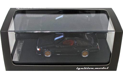【中古】ミニカー 1/43 Toyota Corolla Levin AE86 3-Door GT Apex(ブラック) [IG0475]