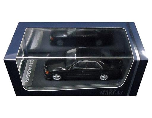 【新品】ミニカー 1/43 トヨタ チェイサー ツアラー V JZX100 後期型 カスタムカラー(ブラック) [PM4382BK]
