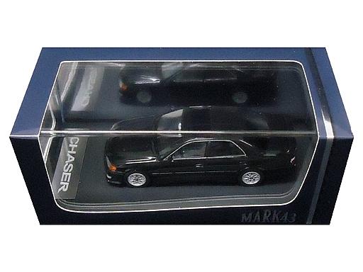 【新品】ミニカー 1/43 トヨタ チェイサー ツアラー V JZX100 後期型 スポーツホイール カスタムカラー(ブラック) [PM4382SBK]