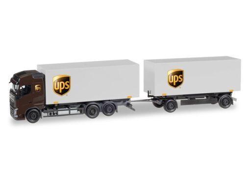 """【予約】ミニカー 1/87 ボルボ FH Gl. ボックストレーラー """"UPS"""" [HE308823]"""