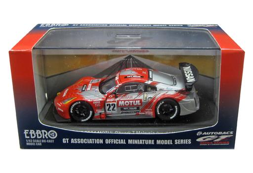 【中古】ミニカー 1/43 JGTC 2004 Motul Pitwork Z MALAYSIA BRIDGESTONE #22(シルバー×レッド) 「オートバックス GT 2004シリーズ」 [43607]