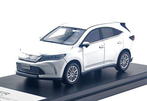 【予約】ミニカー 1/43 Toyota HARRIER HYBRID PREMIUM 2017(ホワイトパールクリスタルシャイン) [HS207WH]