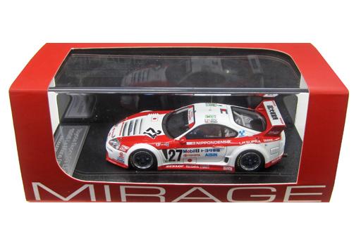 【中古】ミニカー 1/43 Toyota Supura GT LM 1995 Le Mans 大塚家具 #27(ホワイト×レッド) 「MIRAGE ミラージュシリーズ」 [8351]