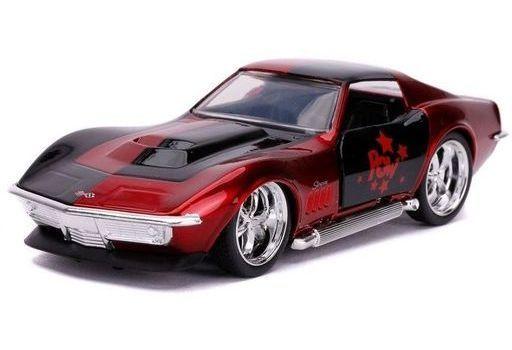 JADA TOYs 新品 ミニカー 1/32 1969 コルベット スティングレイ ハーレイ・クイン 「バットマン」 [JADA32095]