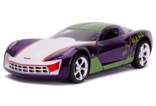 JADA TOYs 新品 ミニカー 1/32 2009 コルベット スティングレイ ジョーカー 「バットマン」 [JADA32096]