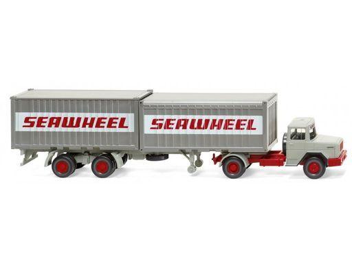 """ヴィーキング(WIKING) 新品 ミニカー 1/87 マギルス ドイツ コンテナセミトラック """"Seawheel"""" [052402]"""