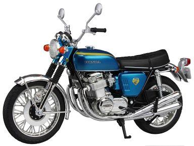 【中古】ミニカー 1/12 Honda CB750FOUR K0(キャンディブルー) 「完成品バイクシリーズ」 [082867]