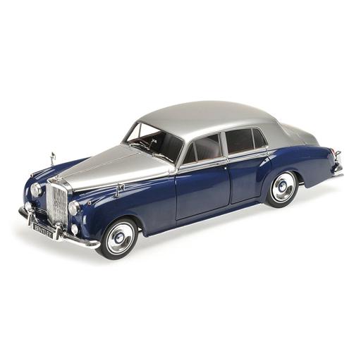 【新品】ミニカー 1/18 ベントレー S2 1954(シルバー×ブルー) [100139954]
